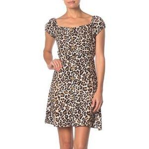 Leopard Printed Mini Dress
